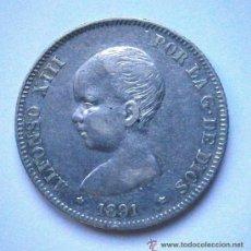 Monedas de España: ALFONSO XIII 2 PESETAS 1891*91 RARA VER FOTOS. Lote 38367013
