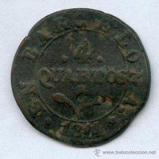Monedas de España: JOSE NAPOLEON ESPAÑA. 4 CUARTOS AÑO 1814, MONEDA MUY ESCASA. Lote 38369390