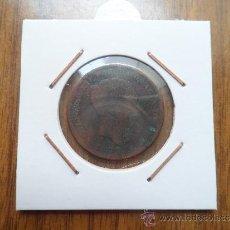 Monedas de España: MONEDA DE COBRE, 5 CENTIMOS, ALFONSO XII, AÑO 1877.. Lote 38469436