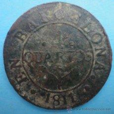 Monedas de España: 4 QUARTOS. BARCELONA 1811. Lote 38696972