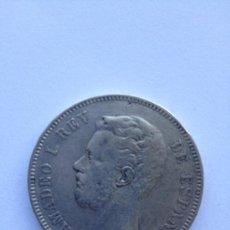 Monedas de España: 5 PESETAS DE PLATA DEL REY AMADEO. Lote 101540722