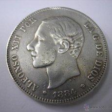 Monedas de España: 2 PESETAS DE PLATA DE 1884.18-84.REY ALFONSO XII. Lote 39315340