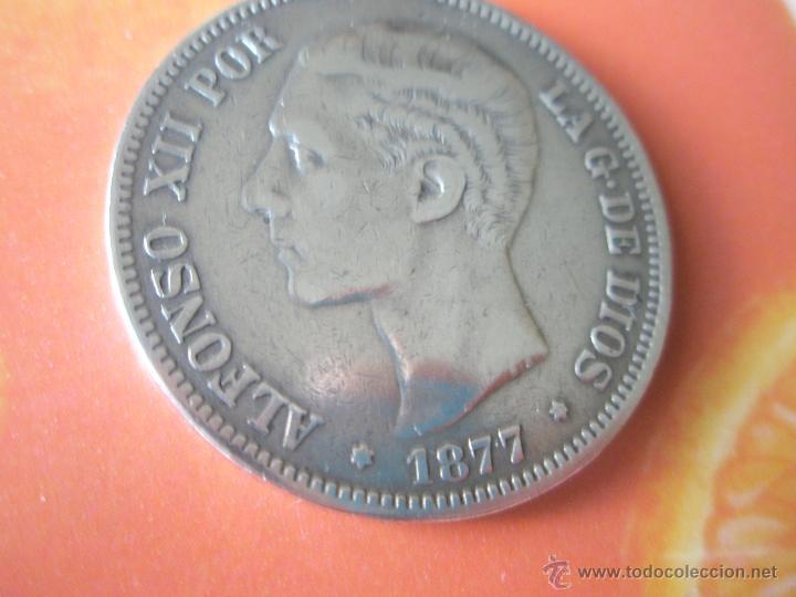 Monedas de España: MONEDA DE ESPAÑA-5 PESETAS-1877*78-ALFONSO XII-. - Foto 6 - 37016695