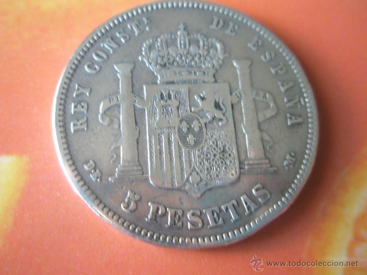 Monedas de España: MONEDA DE ESPAÑA-5 PESETAS-1877*78-ALFONSO XII-. - Foto 5 - 37016695