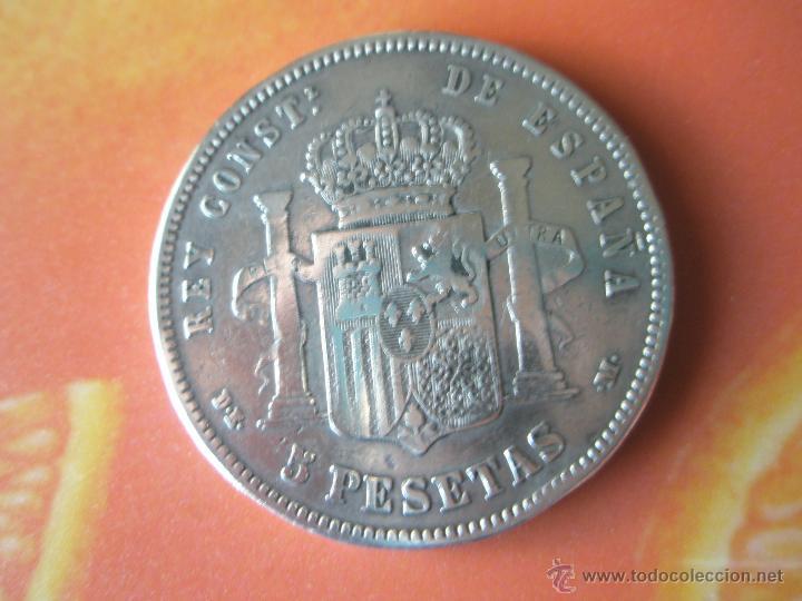 Monedas de España: MONEDA DE ESPAÑA-5 PESETAS-1877*78-ALFONSO XII-. - Foto 3 - 37016695