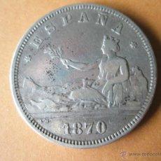 Monedas de España: -MONEDA DE ESPAÑA-2 PESETAS-1870+73--9,74 GRS-28 MM.D-.. Lote 39452769