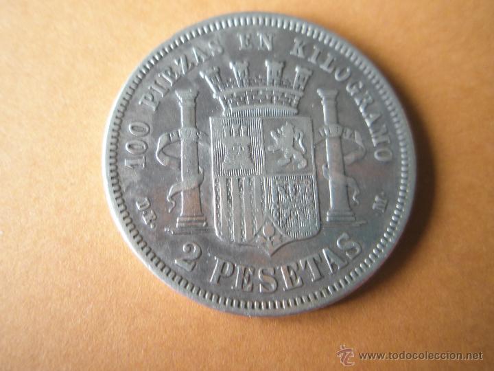 Monedas de España: -MONEDA DE ESPAÑA-2 PESETAS-1870+73--9,74 GRS-28 MM.D-. - Foto 4 - 39452769