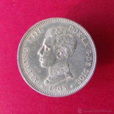 Monedas de España: 2 PESETAS DE PLATA ALFONSO XIII 1905 CECA MADRID. Lote 39556443