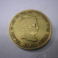 Monedas de España: 80 REALES DE ORO DE 1843 RD. CECA DE SEVILLA. REINA ISABEL II. Lote 39618690