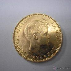 Münzen von Spanien: 20 PESETAS DE ORO DE 1896 19-62 ,REY ALFONSO XIII. Lote 39761877