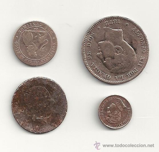 LOTE MONEDAS DE COBRE 1878, 1870, 1906 (Numismática - España Modernas y Contemporáneas - De Isabel II (1.834) a Alfonso XIII (1.931))