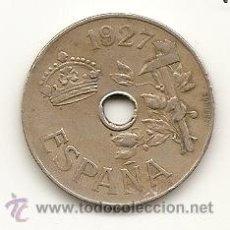 Monedas de España: ESPAÑA 1927. MONEDA 25 CENTIMOS DE LA EPOCA DE ALFONSO XIII.. Lote 119965835