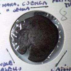 Monedas de España: 8 MARAVEDIS FELIPE IV CON SECA DE CUENCA Y RESELLADO EN SEVILLA CON VALOR NOMINAL ROMANO. MBC.. Lote 40574554