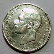 Monedas de España: ALFONSO XII . 5 PESETAS 1884 . *18-84 . PLATA. Lote 40647501