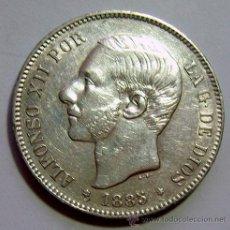Monedas de España: ALFONSO XII . 5 PESETAS 1885 *18-87 - MP-M . PLATA. Lote 40647535
