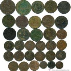 Monedas de España: ALFONSO XIII, ALFONSO XII Y 1ª REPÚBLICA, 61 MONEDAS, AL SER FOTO DE CONJUNTO, MEJOR EN MANO. Lote 40681910