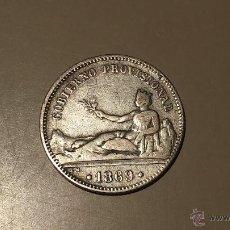 Monedas de España: MONEDA 1 PESETA 1869 MADRID SNM PLATA GOBIERNO PROVISIONAL MBC +. Lote 40736555