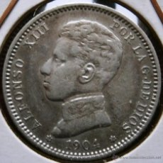 Monedas de España: ALFONSO XIII 1 PESETA 1904*04 VER FOTOS . Lote 40816910
