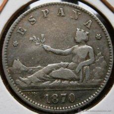 Monedas de España: GOBIERNO PROVISIONAL I REPÚBLICA 1 PESETA 1870*70 SNM . Lote 40818162
