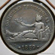 Monedas de España: GOBIERNO PROVISIONAL I REPÚBLICA 1 PESETA 1869 VER FOTOS . Lote 40818232