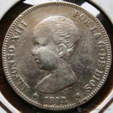 Monedas de España: ALFONSO XIII 2 PESETAS 1892*92 VER FOTOS. Lote 40818898