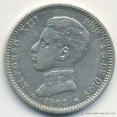 Monedas de España: ALFONSO XIII, 1 PESETA 1903, PLATA. MUY BONITA. Lote 40840312