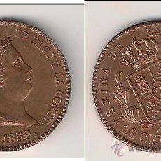 Monedas de España: MONEDA DE ISABEL 2ª DE 10 CÉNTIMOS DE REAL ACUÑADA EN SEGOVIA DEL AÑO 1859. SIN CIRCULAR. ISA3.. Lote 40929207