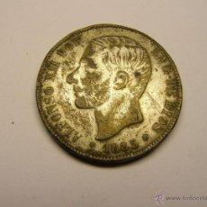 Monedas de España: MONEDA 5 PESETAS ALFONSO XII, AÑO 1885, FALSA DE ÉPOCA.. Lote 40994851