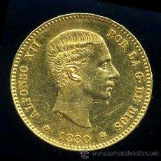 Monedas de España: ALFONSO XII - 25 PESETAS DE ORO DE 1880 *80 M.S.M. (ALFONSINA). Lote 41115305