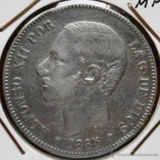 Monedas de España: ALFOMSO XII 5 PESETAS 1885*87 MPM VER FOTOS. Lote 41194151