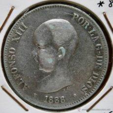 Monnaies d'Espagne: ALFONSO XIII 5 PESETAS 1888*88 MPM CUELLO REDONDO VER FOTOS. Lote 41194185