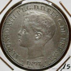 Monedas de España: ALFONSO XIII 1897 UN PESO ISLAS FILIPINAS VER FOTOS. Lote 41194229