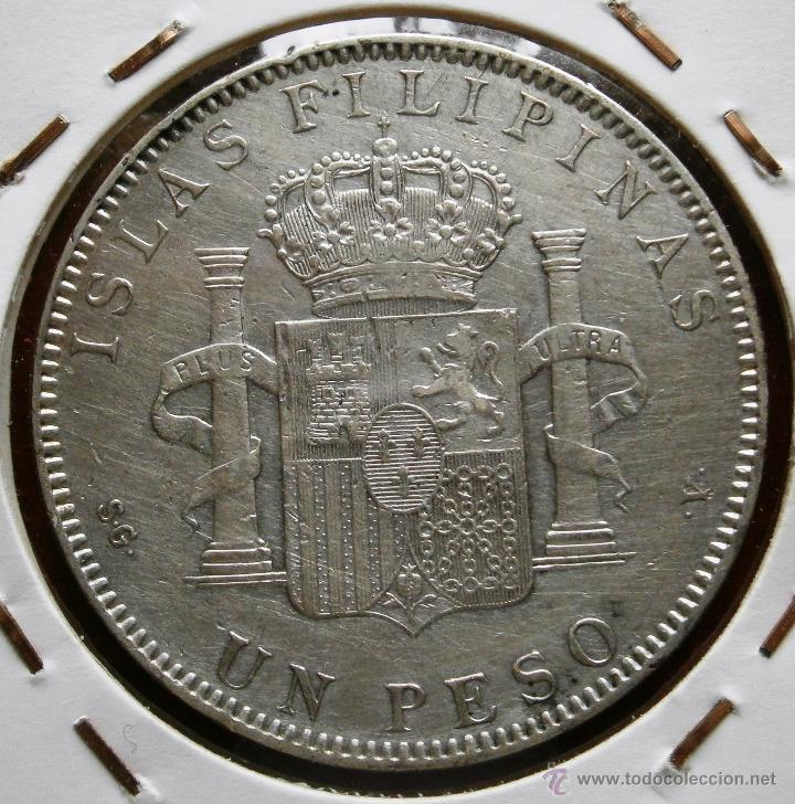 Monedas de España: Alfonso XIII 1897 Un Peso Islas Filipinas Ver Fotos - Foto 2 - 41194229
