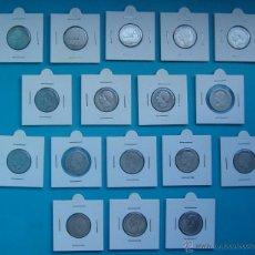 Monedas de España: LOTE MONEDAS DE PLATA DE 1 PESETA 1869 A 1904. Lote 41291990