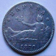 Monedas de España: GOBIERNO PROVISIONAL I REPUBLICA 50 CENTIMOS 1870 * 7 * 0 BC+ VER FOTOS . Lote 41346877