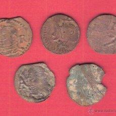 Monedas de España: INTERESANTE LOTE DE 5 ARDITES FALSOS DE ÉPOCA. PARA ESTUDIO.. Lote 41370355
