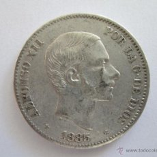 Monedas de España: ALFONSO XII * 50 CENTAVOS DE PESO * 1885 * FILIPINAS * PLATA. Lote 42225059