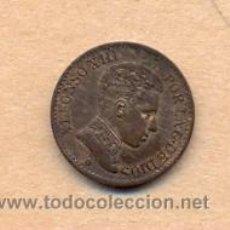 Monedas de España: BRO 5 - ALFONSO XIII 1 CENTIMO 1906 (6) MADRID SLV E.B.C.. Lote 42389650