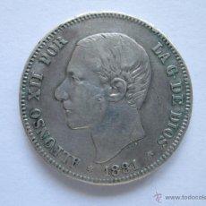 Monedas de España: ALFONSO XII * 2 PESETAS 1881 MS M * PLATA * DOS ESTRELLAS VISIBLES. Lote 42459344