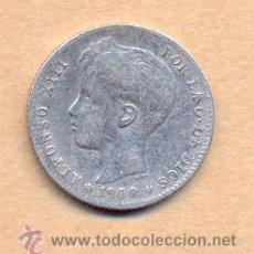 Monedas de España: BRO 42 - ALFONSO XIII 1 PESETA 1900 ( ) ( ) MADRID SMV PLATA MEDIDAS SOBRE 23 MM PESO SOBRE 4. Lote 42484640