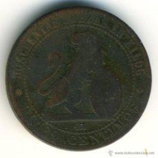 Monedas de España: 5 CÉNTIMOS GOBIERNO PROVISIONAL. 1870, COBRE. Lote 42495470