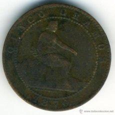 Monedas de España: 5 CÉNTIMOS GOBIERNO PROVISIONAL. 1870, COBRE. Lote 42495546