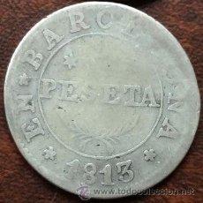 Monete da Spagna: BARCELONA 1 PESETA 1813 - OCUPACION NAPOLEON CATALUNYA. Lote 42542928