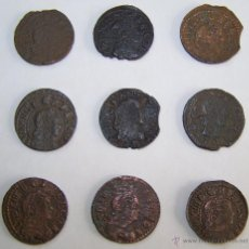 Monedas de España: LOTE 9 MONEDAS GUERRA DELS SEGADORS CATALUNYA 1640 - 1652. Lote 42573098