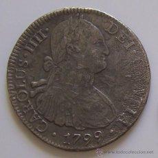 Monedas de España: 8 REALES CARLOS IV 1799 MEXICO MONEDA COLONIAL DE PLATA Nº 2. Lote 42573693