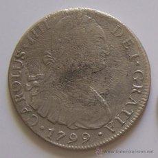 Monedas de España: 8 REALES CARLOS IV 1799 LIMA PERU MONEDA COLONIAL DE PLATA. Lote 42573734