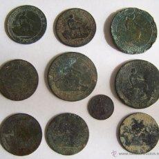 Monedas de España: 1ª REPUBLICA 1870 LOTE DE 10 MONEDAS. Lote 42573945