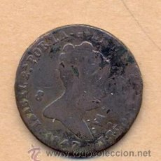 Monedas de España: BRO 46 - ISABEL II - COBRE - 8 MARAVEDIES CECA DE SEGOVIA 1847 TIPO 177 CALICO TRIGO PESO SOBR. Lote 42593454