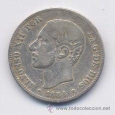 Monedas de España: ALFONSO XII- 2 PESETAS- 1884*1-84 MSM. Lote 42642240