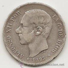 Monedas de España: ESPAÑA1883. DURO 5 PESETAS DE PLATA DE ALFONSO XII.. Lote 42669680